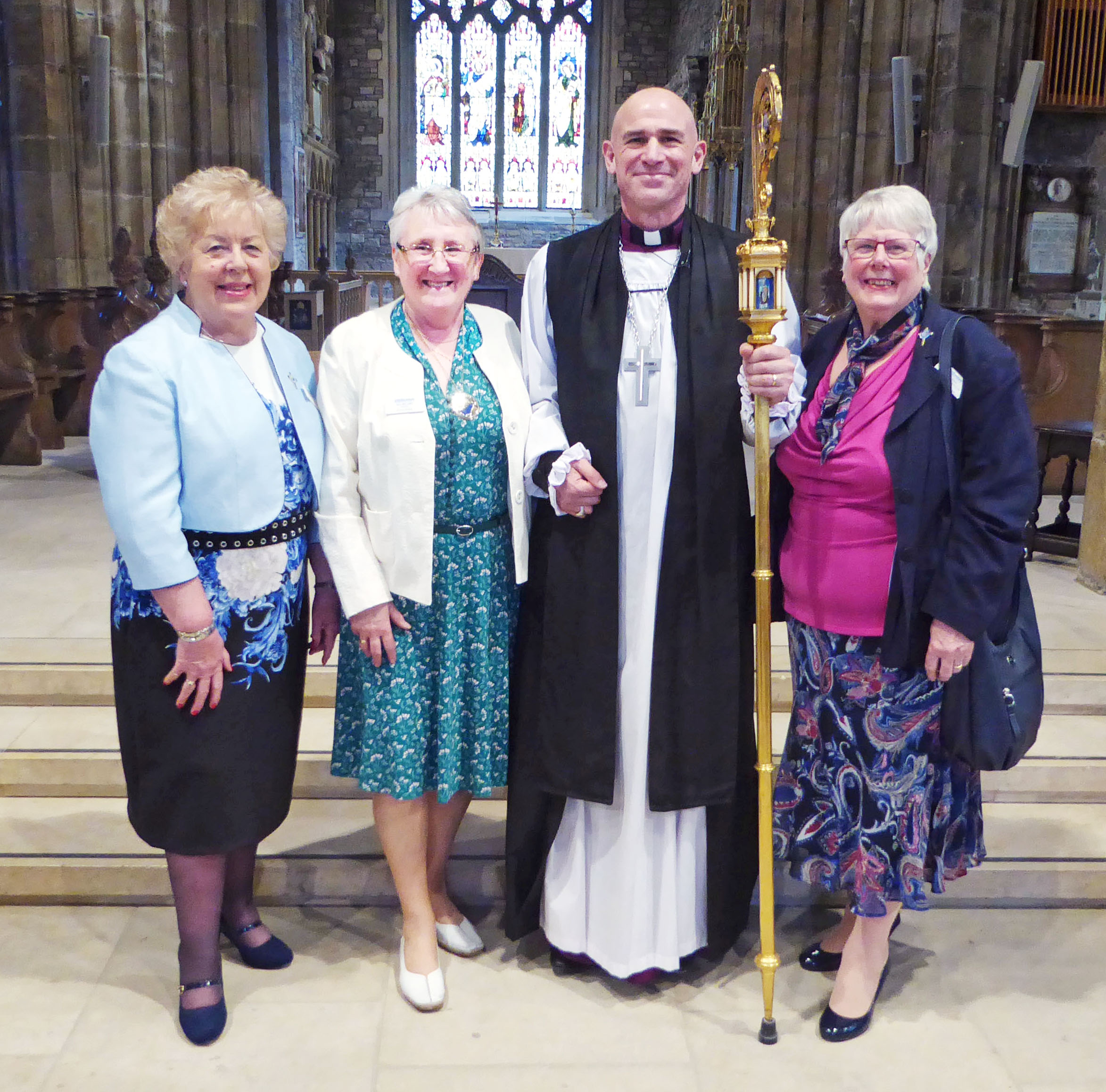 President, VIPs and Bishop Pete